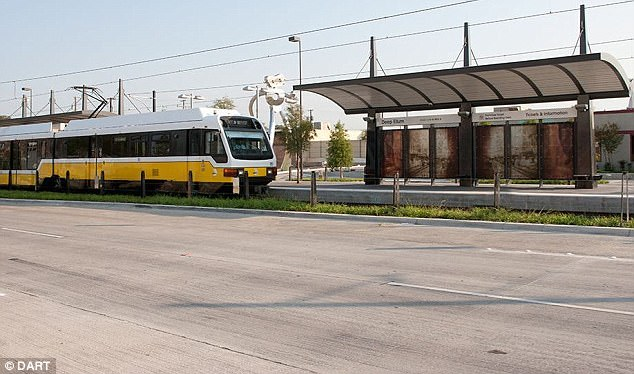 The incident happened on board a DART train in Dallas, Texas, on Sunday