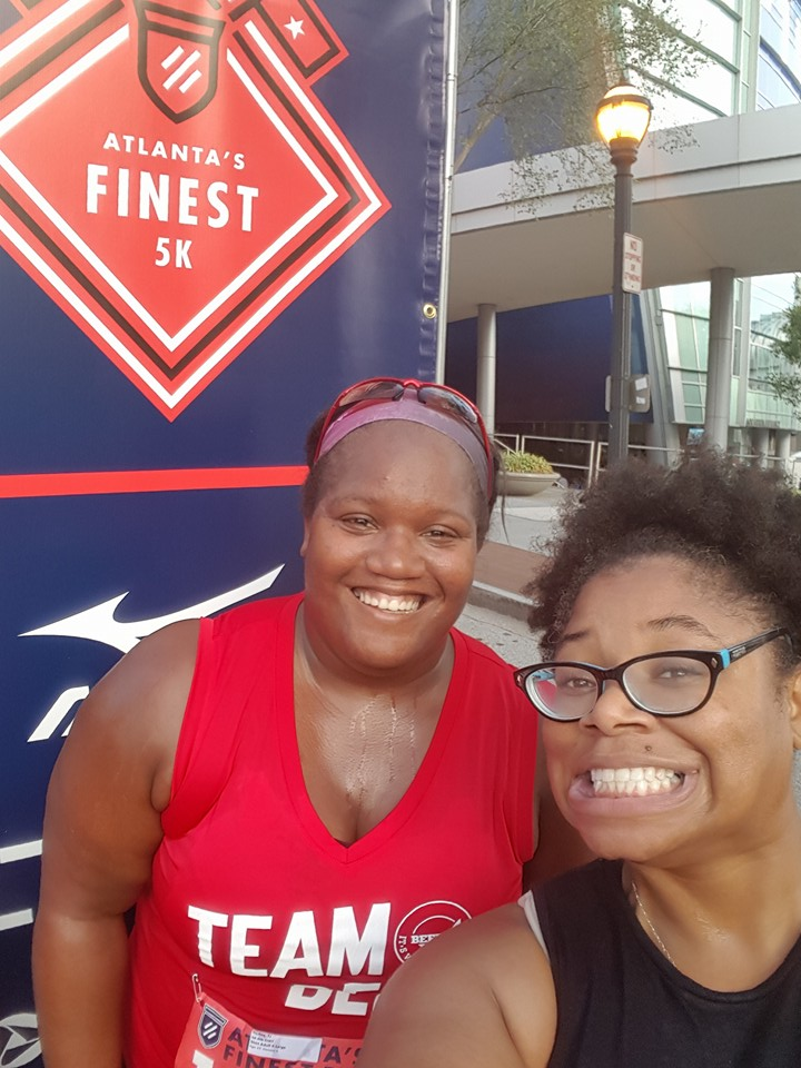 Angie and me Atlanta's Finest 5k 2016