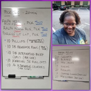 If you ever wondered what happens during a FitWit workout, check out the boards!