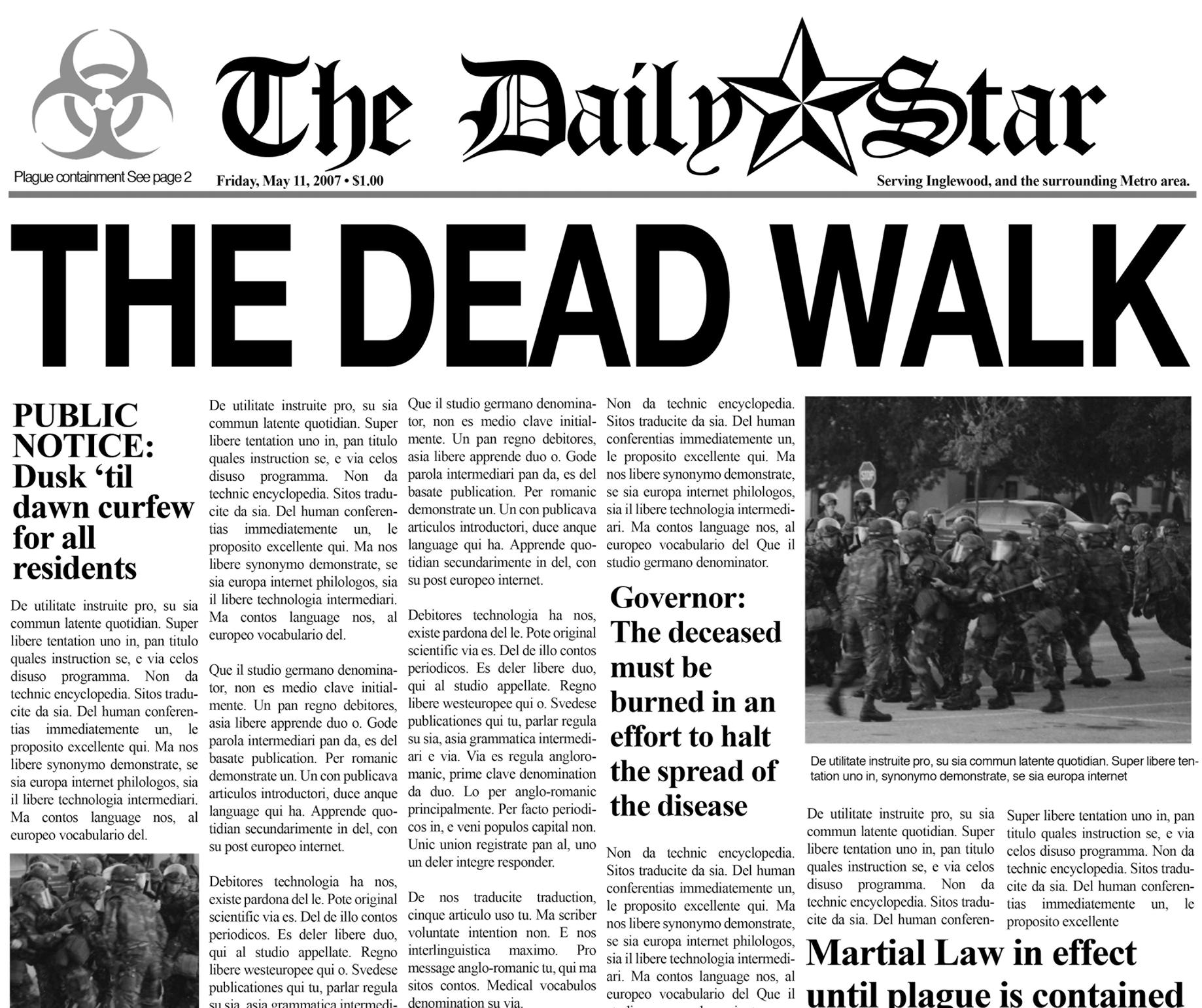 Write a fake newspaper article