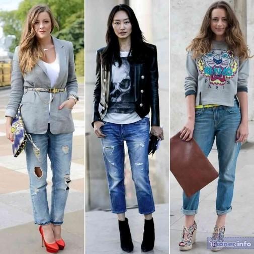 Бойфренды джинсы женские: с чем носить, как сочетать и ...