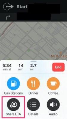 iPhone'da TVZ Paylaşmak (Tahmini Varış Zamanı) 3