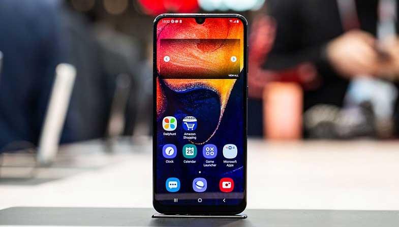 Samsung Galaxy A50 güncelleme tarafında çok hızlı 5