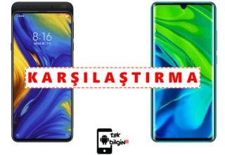 Xiaomi Mi Mix 3 ve Xiaomi Mi Note 10 Pro – Karşılaştırma