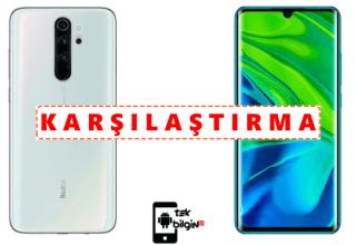 Xiaomi Redmi Note 8 Pro 64GB ve Xiaomi Mi Note 10 Pro – Karşılaştırma