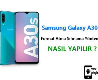 Samsung Galaxy A30s Format Atma Sıfırlama Yöntemi