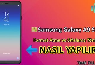 Samsung Galaxy A9 Star Format Atma Sıfırlama Yöntemi