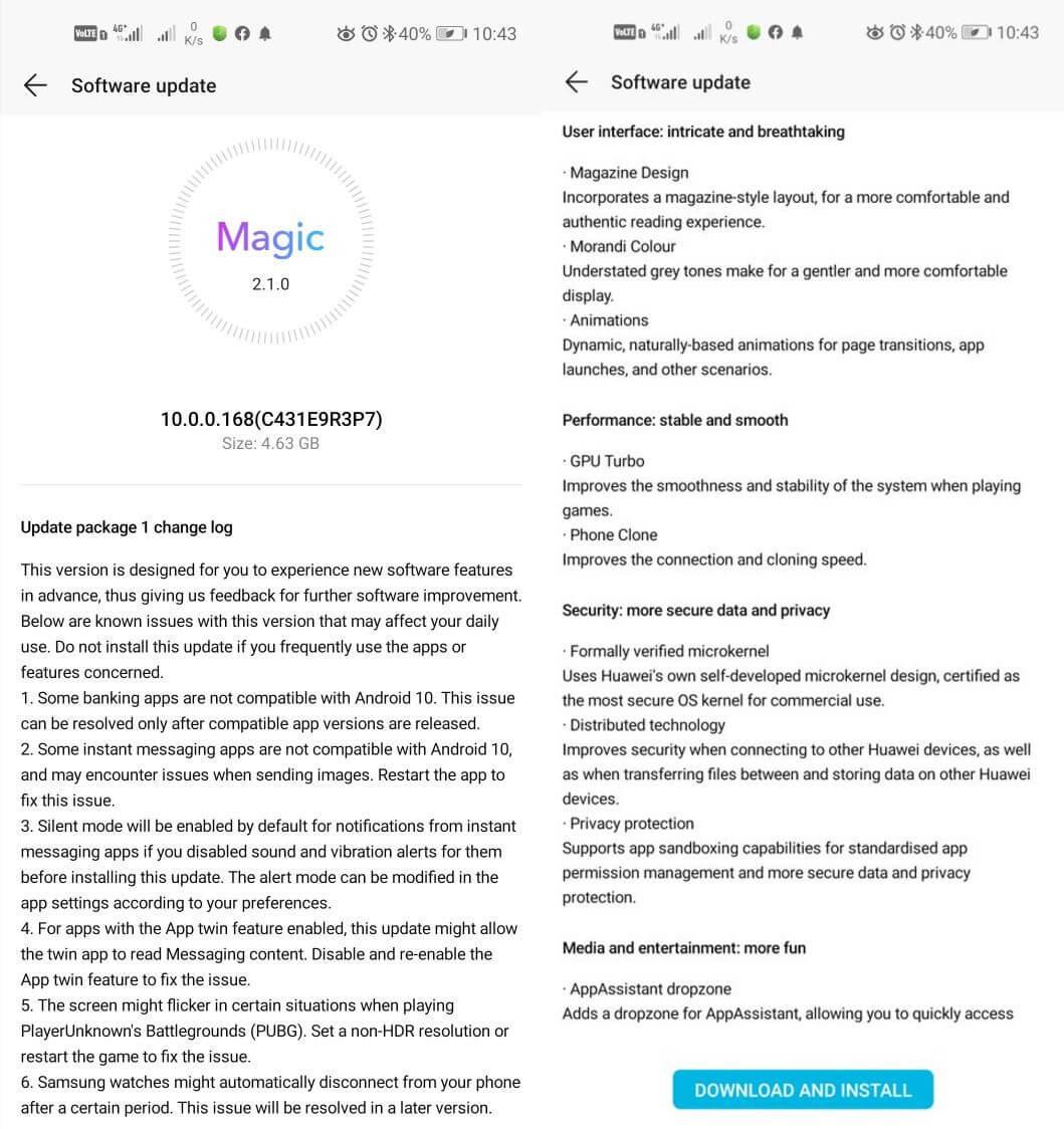 Honor 20, Serisi için Magic UI 3.0 Android 10 Güncellemesi Yayınlandı 11