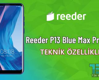 Reeder P13 Blue Max Pro – Teknik Özellikleri