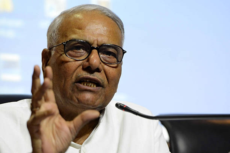 Former Union Finance Minister Yashwant Sinha quits BJP, says democracy in danger