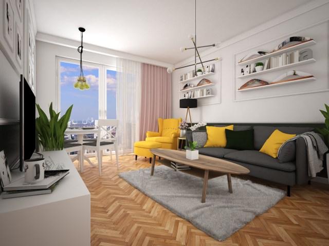 6 1 1440x1080 - Warszawa   projekt mieszkania na wynajem