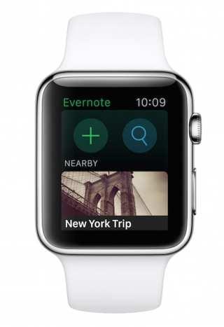 evernote apple watch