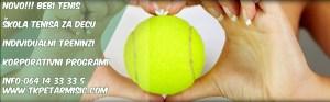 Bebi tenis, škola tenisa za decu