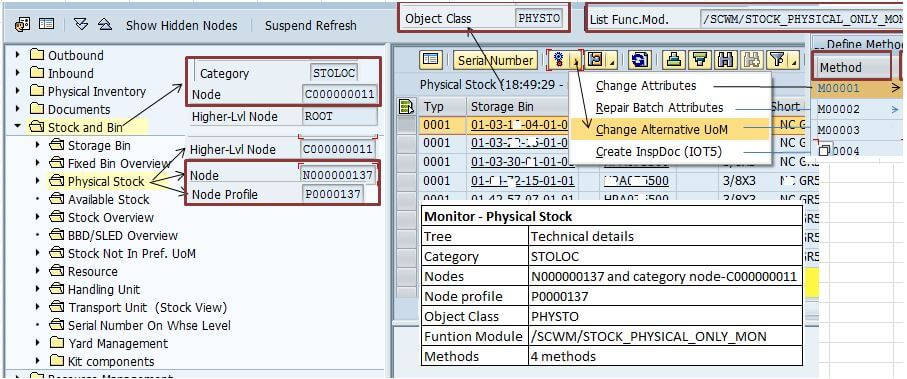 SAP EWM node technical data