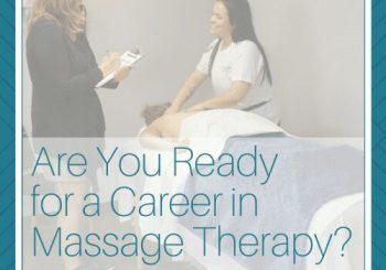 massage instructor with massage student