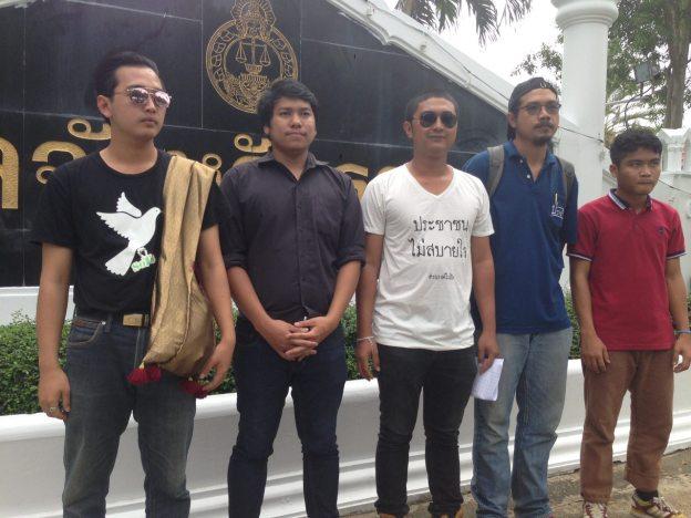 From left: Mr Panuwat Songsawatchai, Mae Jo University student, Mr Anucha Rungmorakot, Mr Pakorn Areekul, Mr Thaweesak Kerdpokha, and Mr Anan Loket