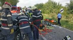 Accident grav între Tulcea și Agighiol. FOTO ISU Delta