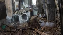 Incendiu la fostul dispensar din Agighiol. FOTO ISU Tulcea