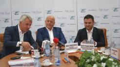 Orlando Teodorovici, Horia Teodorescu și Vasile Suciu, la Tulcea. FOTO Cristina Niță