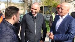 Președintele CJ Tulcea, Horia Teodorescu la deschiderea lucrărilor de infrastructură din primăvara 2019. FOTO Liliana Boioglu