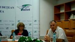 Secretarul de stat Sirma Caraman si directorul Direcției de Investiții din Consiliul Județean Tulcea. FOTO Tlnews.ro