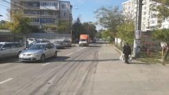 Pe strada Victoriei din municipiul Tulcea s-au modificat regulile de circulație. FOTO IPJ Tulcea