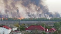Incendiu de vegetație uscată la Sulina. FOTO Tlnews.ro