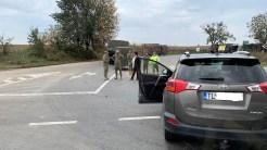 Accident rutier în care a fost implicat un convoi militar, DN 22, în zona Doua Cantoane
