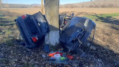 Constănțean mort într-un accident rutier petrecut, astăzi dimineață, în județul Tulcea. FOTO ISU Tulcea