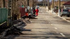 Modernizarea drumurilor în Murighiol. FOTO Paul Alexe