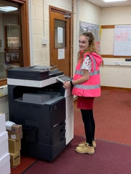 Emma photocopying