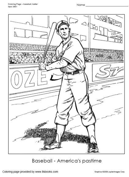 Baseball Coloring Page Tlsbooks