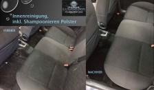 Innenreinigung Rückbank vorher nachher - Fahrzeugpflege Massler