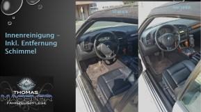 Innenreinigung, inkl. Schimmelentfernung - vorher nachher - Fahrzeugpflege Massler