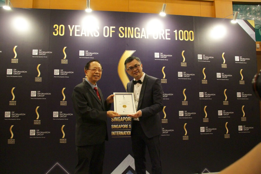 TMC Academy Dr Chin Kon Yuen awarded as the outstanding leaders of 2017 Singapore 1000 and SME 1000 companies!