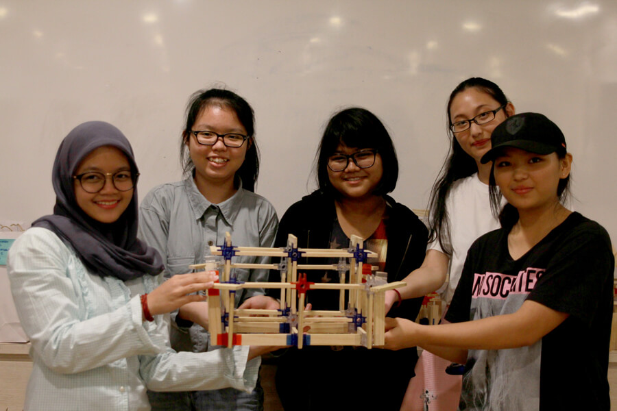 Students With Their Creation
