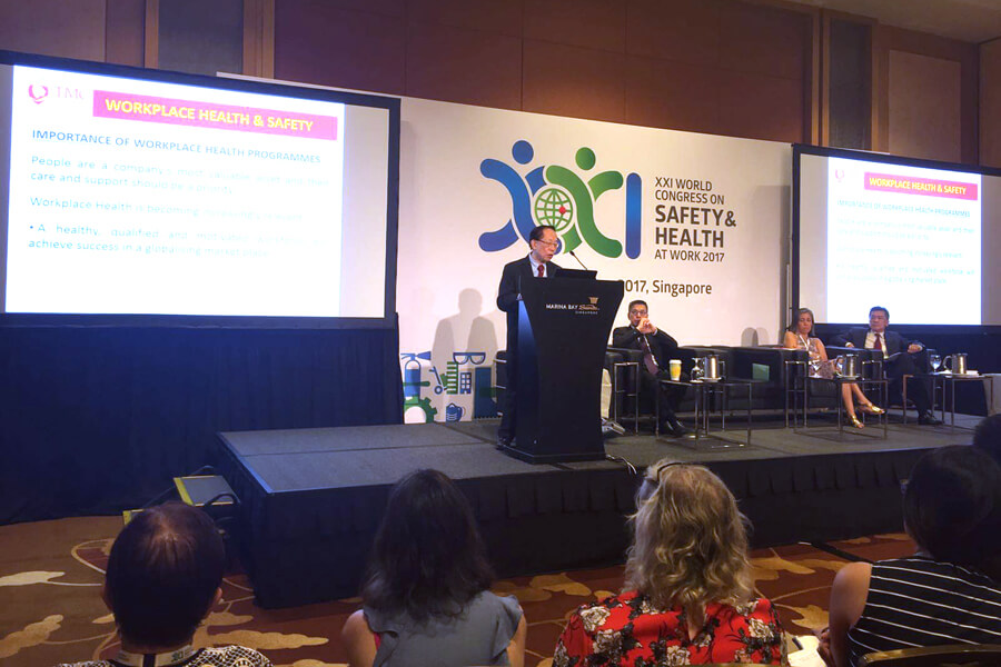 Dr. Chin Giving His Speech @ World Congress on Safety & Health at Work 2017