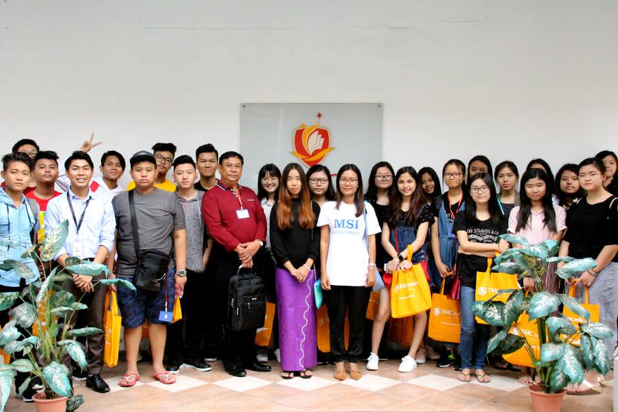 Group Shot - Myanmar Student Visit TMC Academy