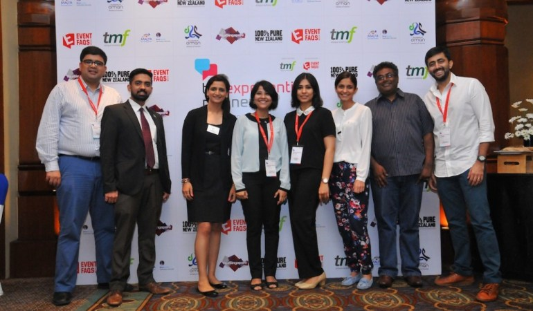f.l.t.r. Pradeep Israni (Singapore Tourism Board), Karl Boga (Ministry of Tourism, Sultanate of Oman), Neha Bhola (Tourism New Zealand), Priya Ghag (Ministry of Tourism, Sultanate of Oman), Srishti Bhatia (tmf dialogue marketing India), Karishma Hundalani (tmf dialogue marketing India), Jaideep Venugopal (BlueMarble Destination Services, Malta) and Vishal Nagdev (tmf dialogue marketing India) ©tmf dialogue marketing India