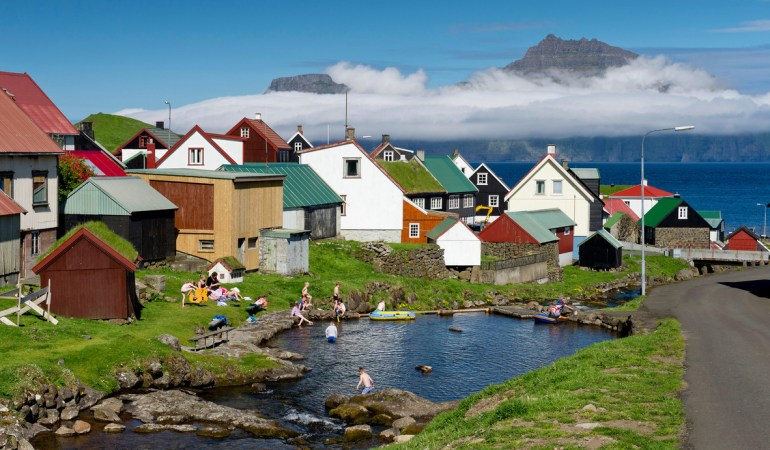 Village with typical colourful houses on the Faroe Islands ©Condé Nast Traveler magazine