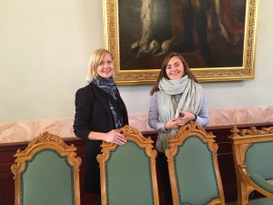Ines und Agnes from events department at Blackhead House