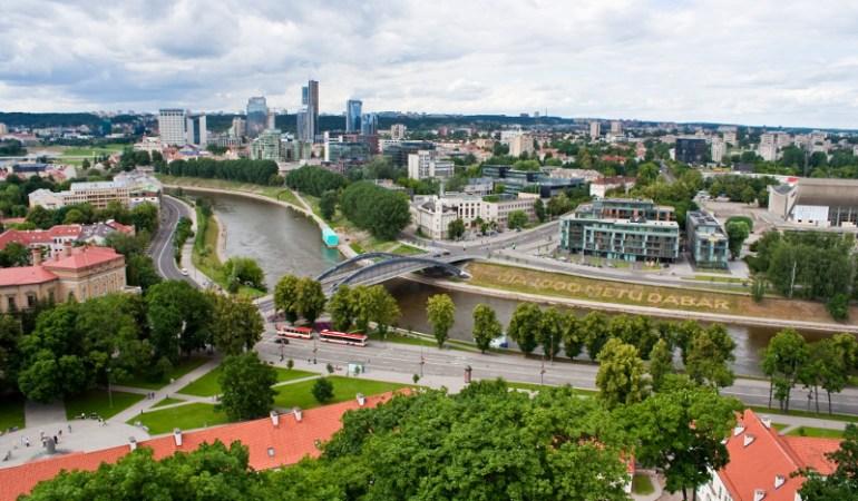 New Vilnius view from Gediminas Hill ©www.vilnius-tourism.lt