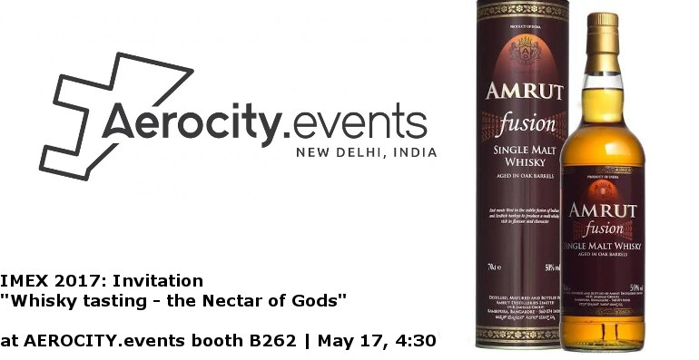 WHISK(y) away the day's stress! @ AEROCITY.events booth in IMEX | May 17, 4:30 p.m.