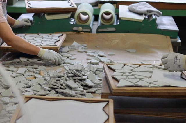 クラッシュタイル製造工程