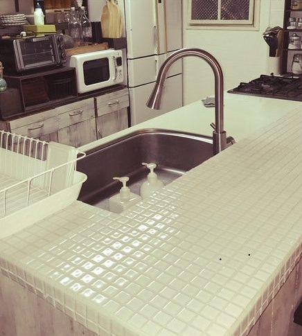448.✨美しい!大人な雰囲気が素敵なキッチンカウンターですね!💕