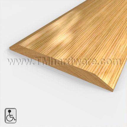 wide wooden doorway threshold or seam