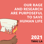 """On a pinkish-red background a person's arm is visible holding a lighter. The flam is burning held against a patient information form with the word """"sex"""" crossed out and the check boxes for male and female are catching fire. Next to it the text says """"Our rage and resource are purposeful to save human life"""""""