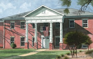 Fraternity House Watercolor by David G Jones