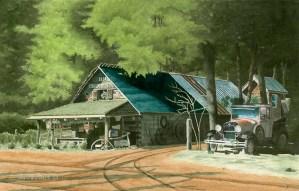 Lick Loc Mill Watercolor by David G Jones