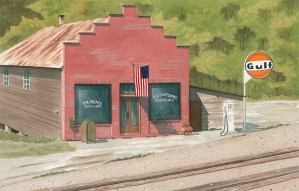 Post Office Watercolor by David Jones